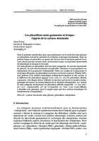 prikaz prve stranice dokumenta Les phrasillons entre grammaire et lexique : l'apport de la syntaxe structurale