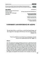 prikaz prve stranice dokumenta Uniformity and Difference of Ageing