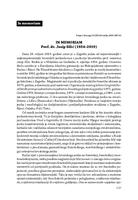 prikaz prve stranice dokumenta IN MEMORIAM Prof. dr. Josip Silić (1934–2019)