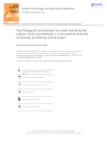 prikaz prve stranice dokumenta Psychological contribution to understanding the nature of dry eye disease: a cross-sectional study of anxiety sensitivity and dry eyes