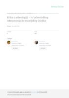prikaz prve stranice dokumenta Etika u arheologiji – od arheološkog iskopavanja do muzejskog izloška