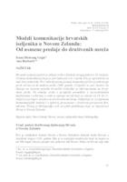 prikaz prve stranice dokumenta Modeli komunikacije hrvatskih iseljenika u Novom Zelandu : Od usmene predaje do društvenih mreža