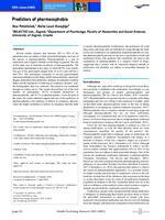 prikaz prve stranice dokumenta Predictors of pharmacophobia