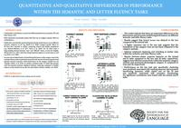 Quantitative and qualitative differences in performance within the semantic and letter fluency tasks