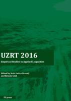 UZRT2016 : empirical studies in applied linguistics