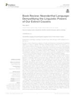 Book review: Neanderthal Language: Demystifying the Linguistic Powers of Our Extinct Cousins