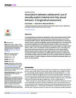 Associations between adolescents' use of sexually explicit material and risky sexual behavior: A longitudinal assessment