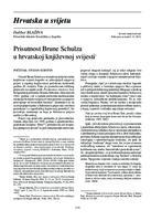 prikaz prve stranice dokumenta Prisutnost Brune Schulza u hrvatskoj književnoj svijesti