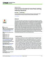 prikaz prve stranice dokumenta Internal but not external noise frees working memory resources