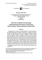 prikaz prve stranice dokumenta The Vow to Testify: On the Gulag and Intertextual Economy of Literature (Karlo Štajner, Varlam Shalamov, Danilo Kiš)