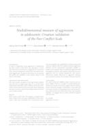 prikaz prve stranice dokumenta Multidimensional measure of aggression in adolescents: Croatian validation of the Peer Conflict Scale